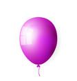 purple realistic balloon vector image vector image