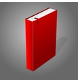 Realistic standing red blank hardcover book with vector image
