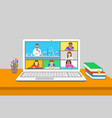 remote learning virtual chemistry zoom class kids vector image vector image