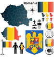 Romania map vector image vector image
