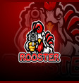 rooster gunners mascot logo design vector image vector image