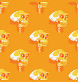 scary skull seamless pattern vector image vector image