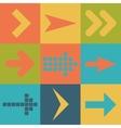 Set arrow icons flat UI web design elements trend vector image vector image