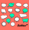 set blank template in pop art style comic text vector image vector image