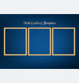 set of decorative frame picture with gold border vector image vector image