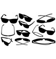 set of different eyeglasses vector image