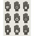 Set of hands vector image vector image