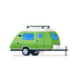 small rv trailer isolated camper vehicle vector image vector image