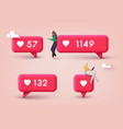 social media like icon concept comment vector image
