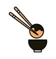 sushi oriental menu octopus ball sticks and bowl vector image vector image