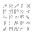 temperature line icons vector image