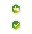 tick and cross test signs set check marks graphic vector image vector image