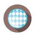 traditional blue checkered pattern block and flat vector image