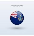 Tristan da Cunha round flag vector image vector image