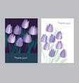 tulip spring floral design element vector image vector image