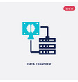 two color data transfer icon from artificial vector image vector image