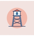 Water tower flat icon vector image vector image