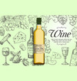white wine poster banner template vector image