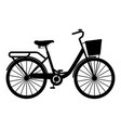 womans bicycle with basket womens beach cruiser vector image