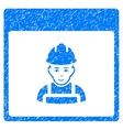 Worker Calendar Page Grainy Texture Icon vector image vector image
