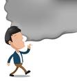 Man Smoke Empty Text Cartoon vector image