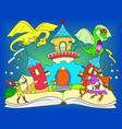 color fairy open book tale concept kids vector image
