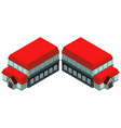 3d design for building with red roof vector image vector image