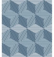 Abstract geometric pattern with striped triangles vector image