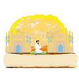 abstract religious card - muslim man praying vector image