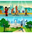 American Cityscapes Compositions Set vector image vector image