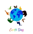 Animals around planet Earth vector image vector image