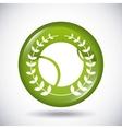 ball and wreath icon Tennis design vector image vector image