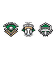baseball championship logo design set sport team vector image vector image