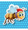 Bee flying vector image vector image