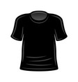 black t-shirt template for your design vector image vector image