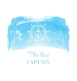 Blue white nautical emblem vector image