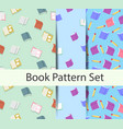 books pattern set vector image vector image