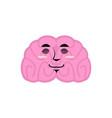 brain asleep emotion human brains emoji sleeping vector image vector image