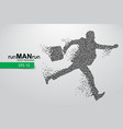 business man silhouette from triangles vector image vector image