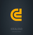 C and D initial logo C and D initial monogram vector image vector image