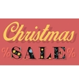 Christmas Sale Card for retail vector image vector image
