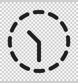 clock time icon in flat style on isolated vector image
