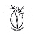 Coffee bean made of human heart Creative vector image