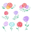 colorful abstract flowers set vector image vector image