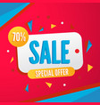 colorful banner for sale season vector image vector image