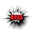 Comic text kiss sound effects pop art vector image vector image