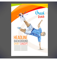 Concept of soccer player vector image vector image