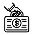 corruption money case icon outline style vector image vector image