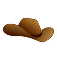 cowboy hat icon cartoon style vector image vector image
