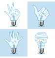 Crative light bulb collection vector image vector image
